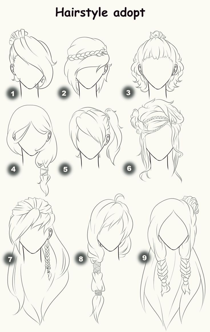 Hairstyle adopts (CLOSED) by x3misteryYuyux3.d… on @deviantART: