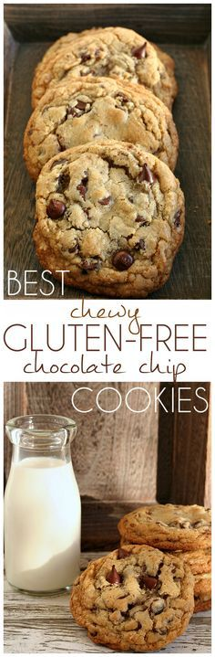Best Chewy Gluten-Free Chocolate Chip Cookies Recipe- Amazing cookies with chewy e