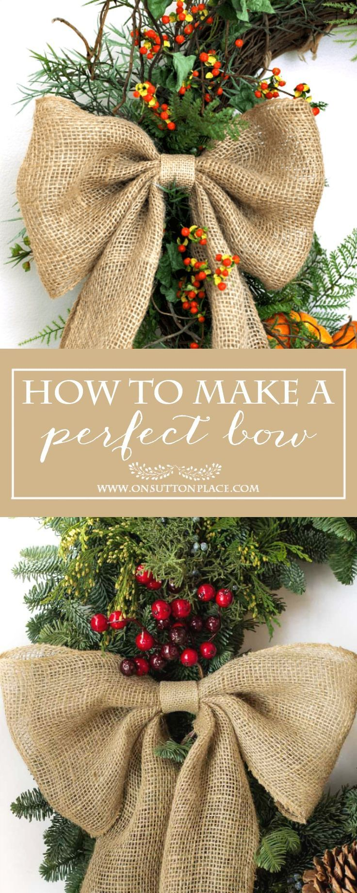 How to Make a Perfect Burlap Bow | Easy tutorial to make a perfect bow every time.