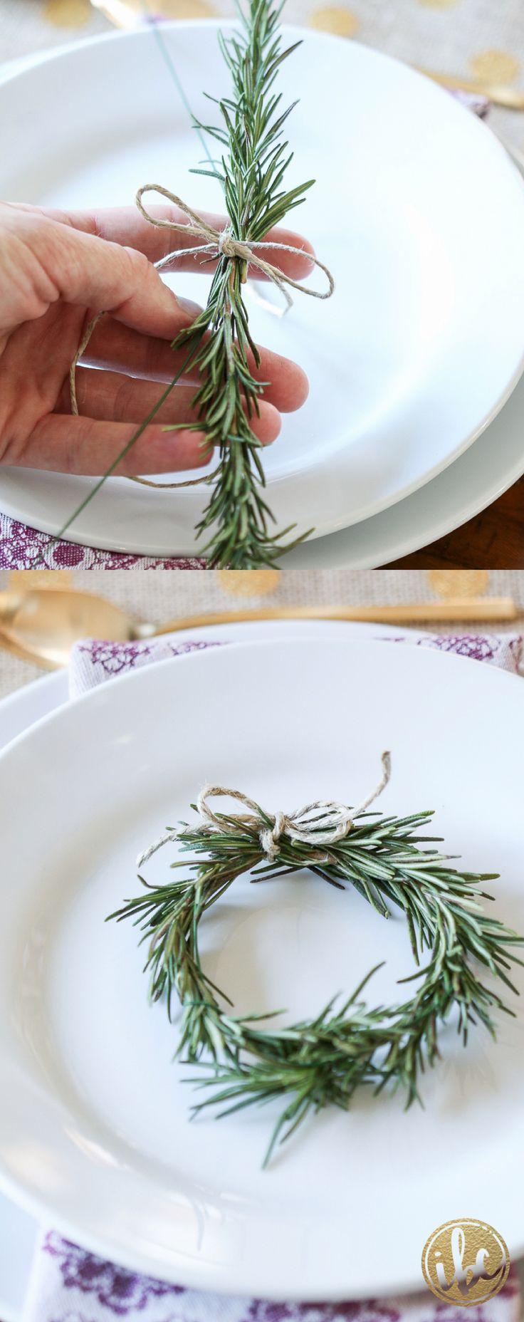Rosemary Wreath – thanksgiving table decor