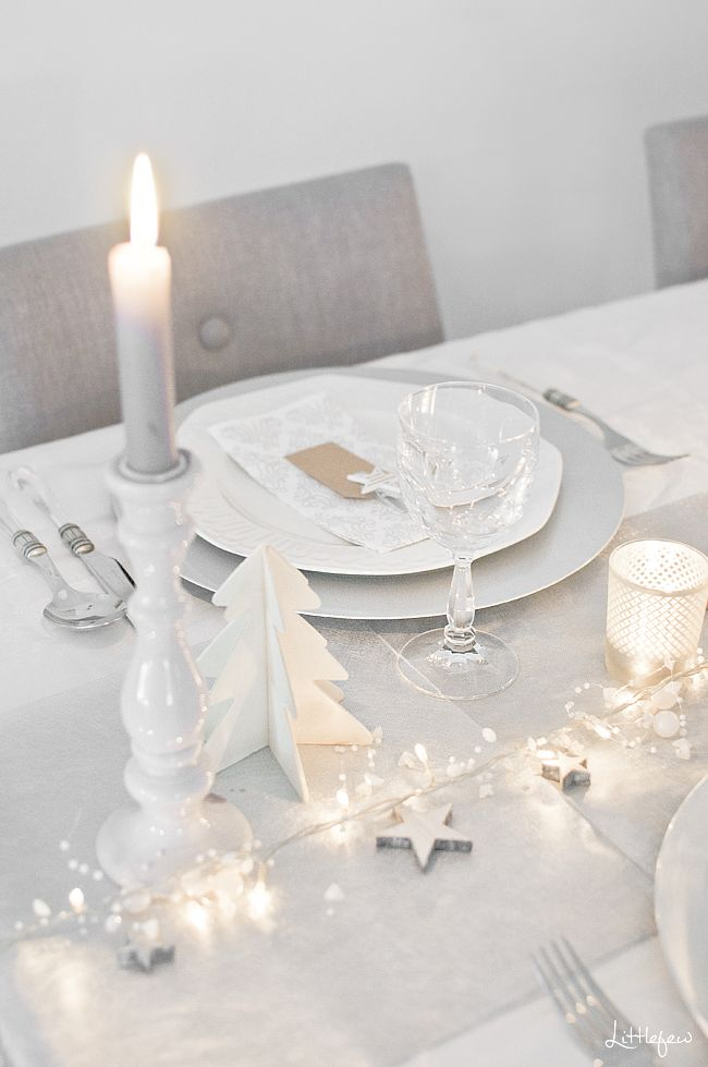 white table setting for christmas,,,,change out christmas decor for new years or p