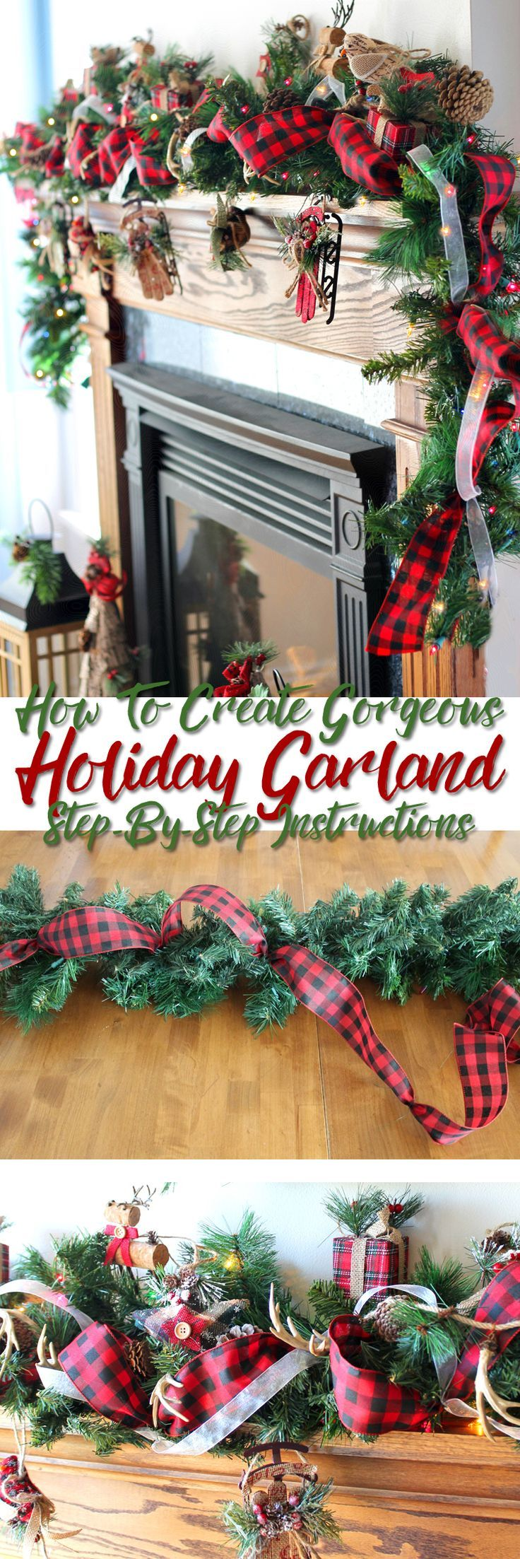 Step-by-step tutorial teaching you how to put together a stunning Christmas garlan