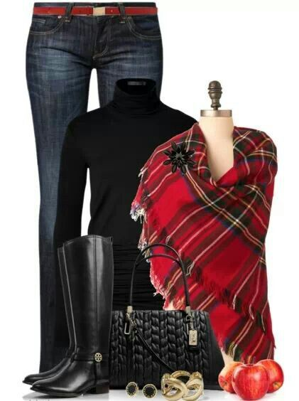 Pop of plaid! Soft flannel…not itchy and stiff.