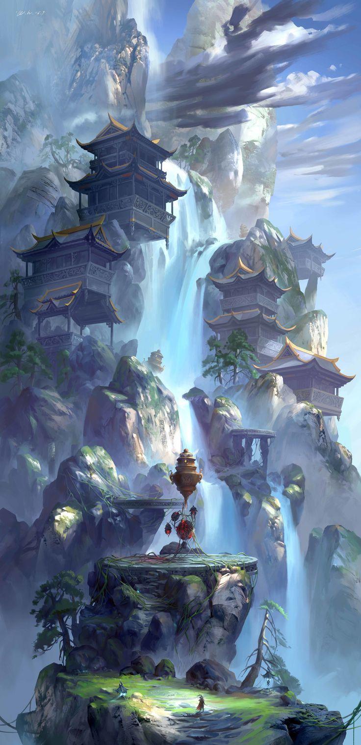 ArtStation – 闻说神仙晋葛洪,炼丹曾此占云峰。, zhong wenhao