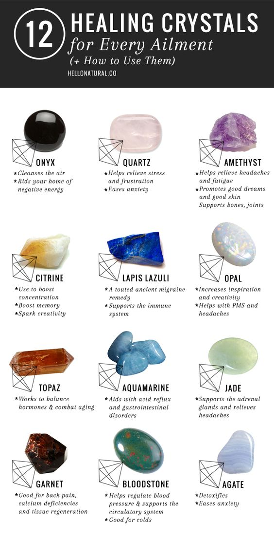 12 Healing Crystals and Their Meanings   Uses | hellonatural.co/…: