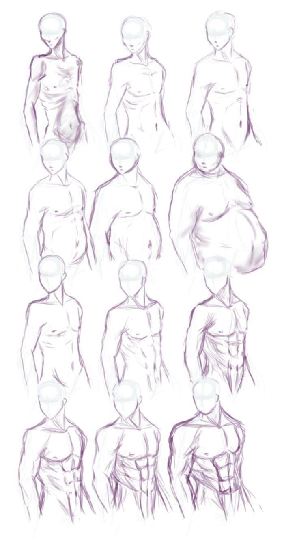 Body Type study by Himwath.deviantar… on @deviantART