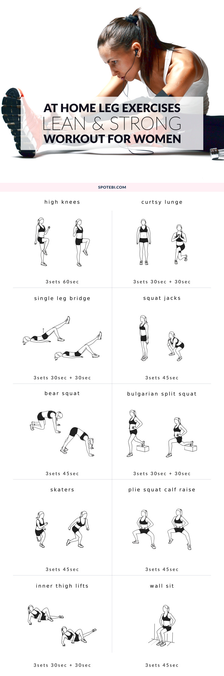 Upgrade your workout routine with these 10 leg exercises for women. Work your thig