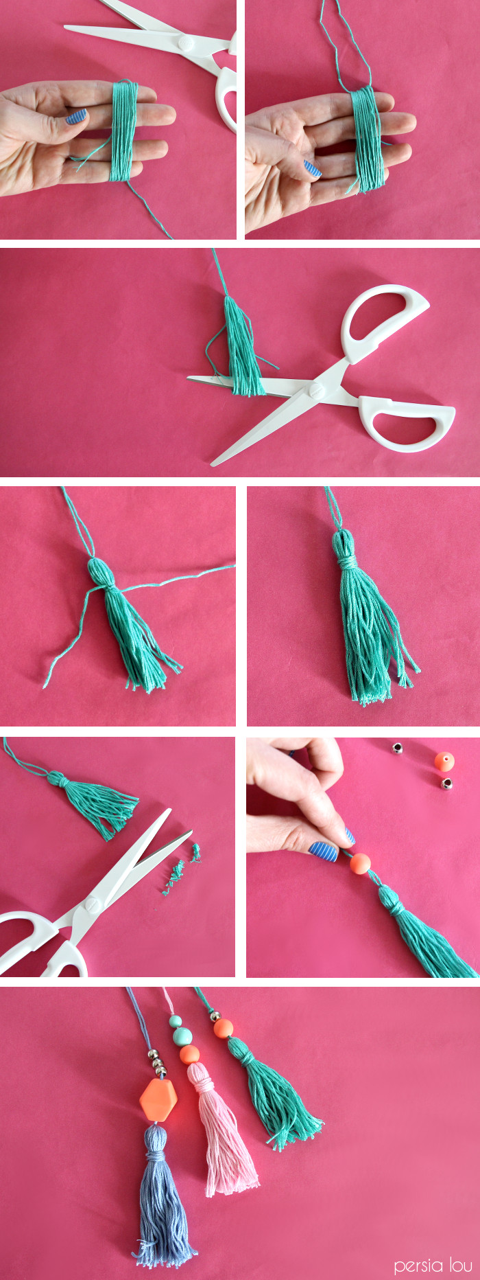 How to make beaded tassels – add to a bag!