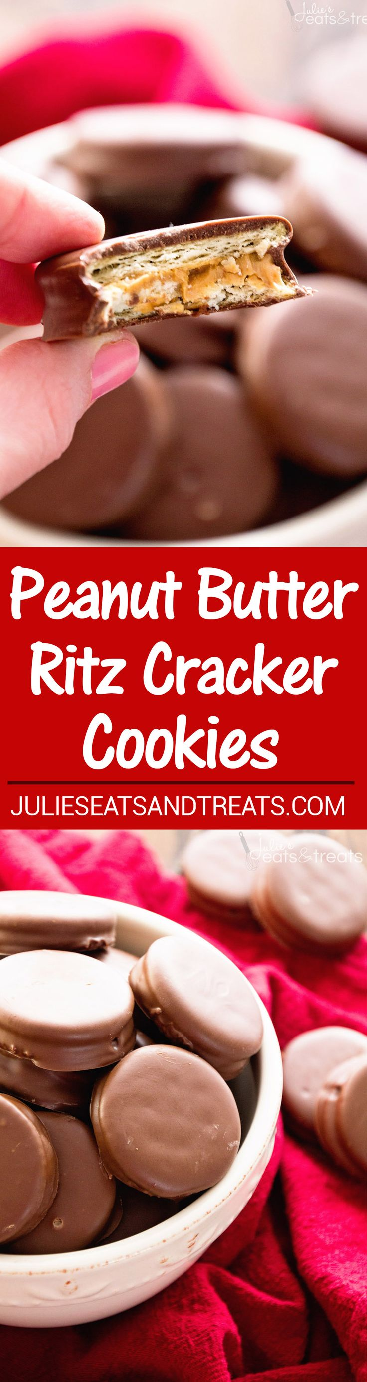 Peanut Butter Ritz Cookies ~ Our FAVORITE treats for the holidays! Easy Christmas