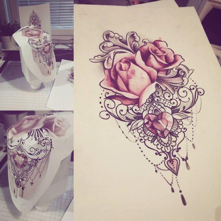 this would make a beautiful thigh piece   tatuajes | Spanish tatuajes  |tatuajes p