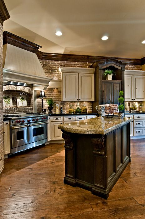 Tile floor – Beautiful Kitchen by K Welch Homes – Style Estate – I would want a bi