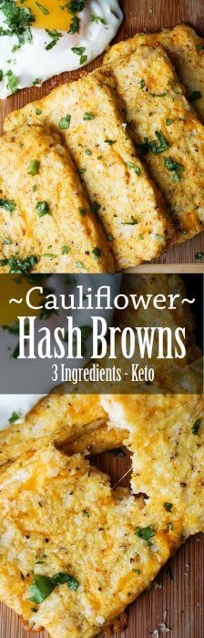Cauliflower Hash Browns bursting with cheese! Keto breakfast taken to the next lev