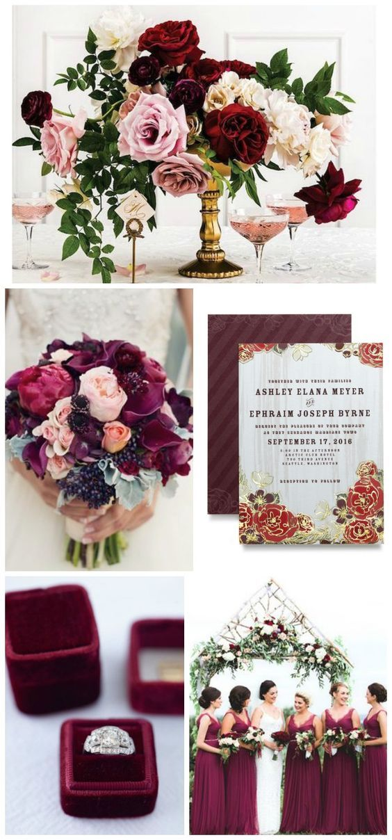 Deep rich berry hues with a touch of organic feel by @Wedding Paper Divas
