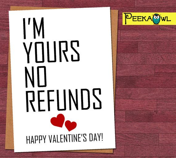 Digital Instant Download Funny Valentines card by PeekaOwl on Etsy