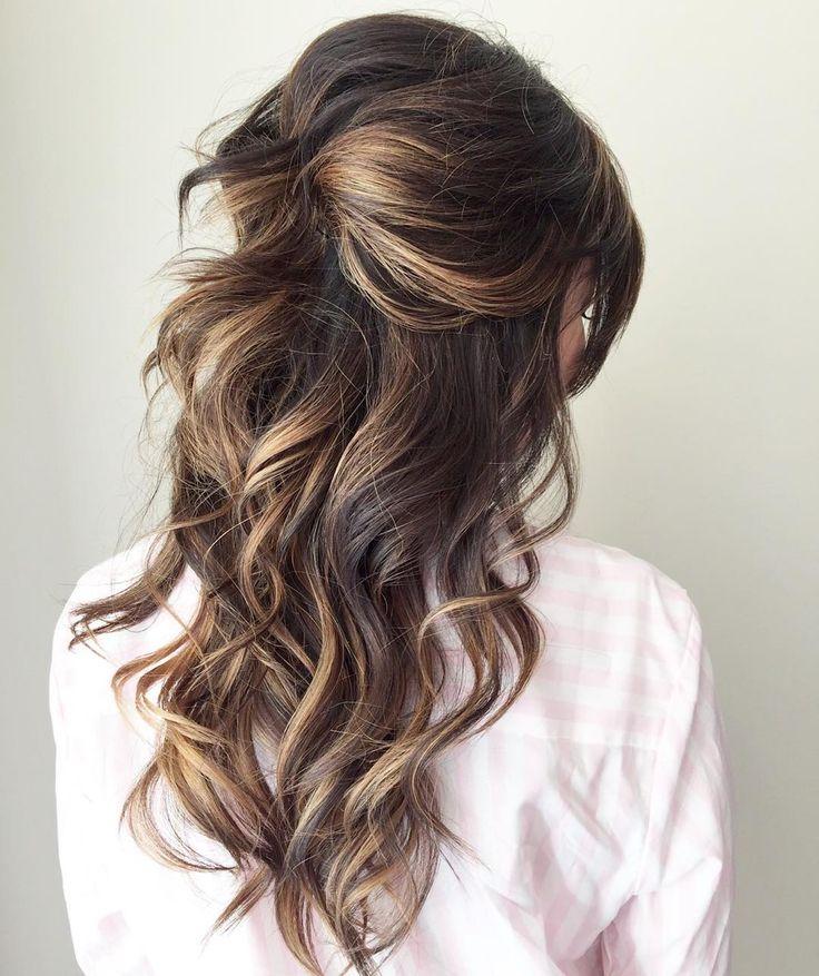 Messy curls down bridesmaid hairstyles