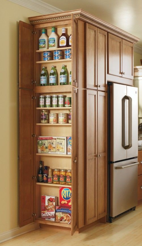 This Utility Cabinets adjustable shelves make storing all of your pantry item