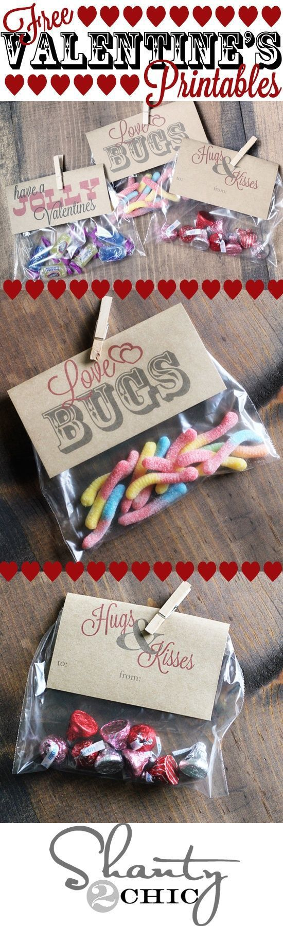 """Valentines Day party or gift treat topper free printables via Shanty2Chic- """"Have a Jolly Valentines"""" for Jolly Ranchers Candy,"""