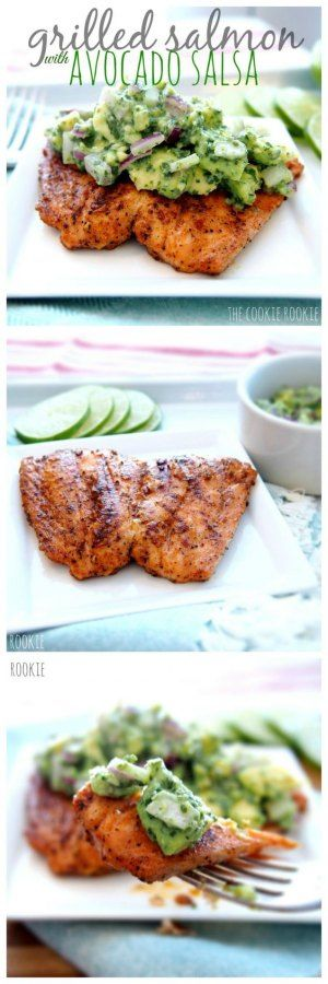 THIS RECIPE FOR WHOLE30 GRILLED SALMON WITH AVOCADO SALSA HAS BEEN PINNED ALMOST 2 MILLION TIMES! HAVE YOU TRIED IT?! WHOLE30