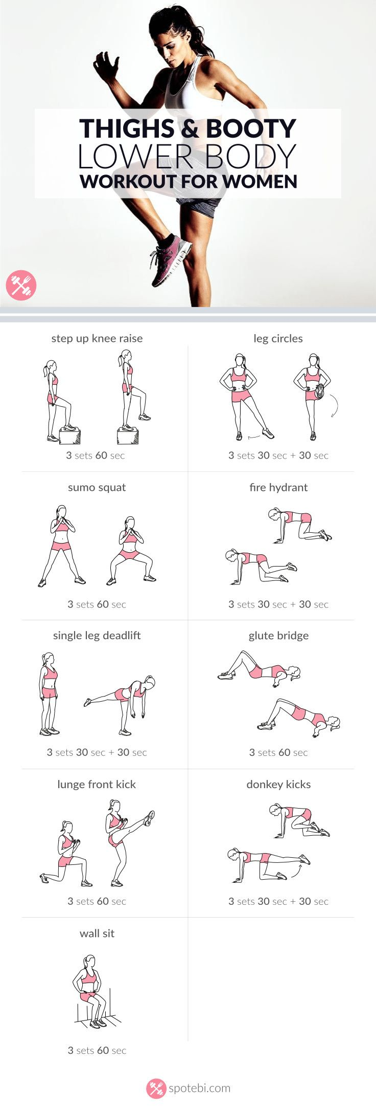 Sculpt your glutes, hips, hamstrings, quads and calves with this lower body workout. A routine designed to give you slim thighs, a