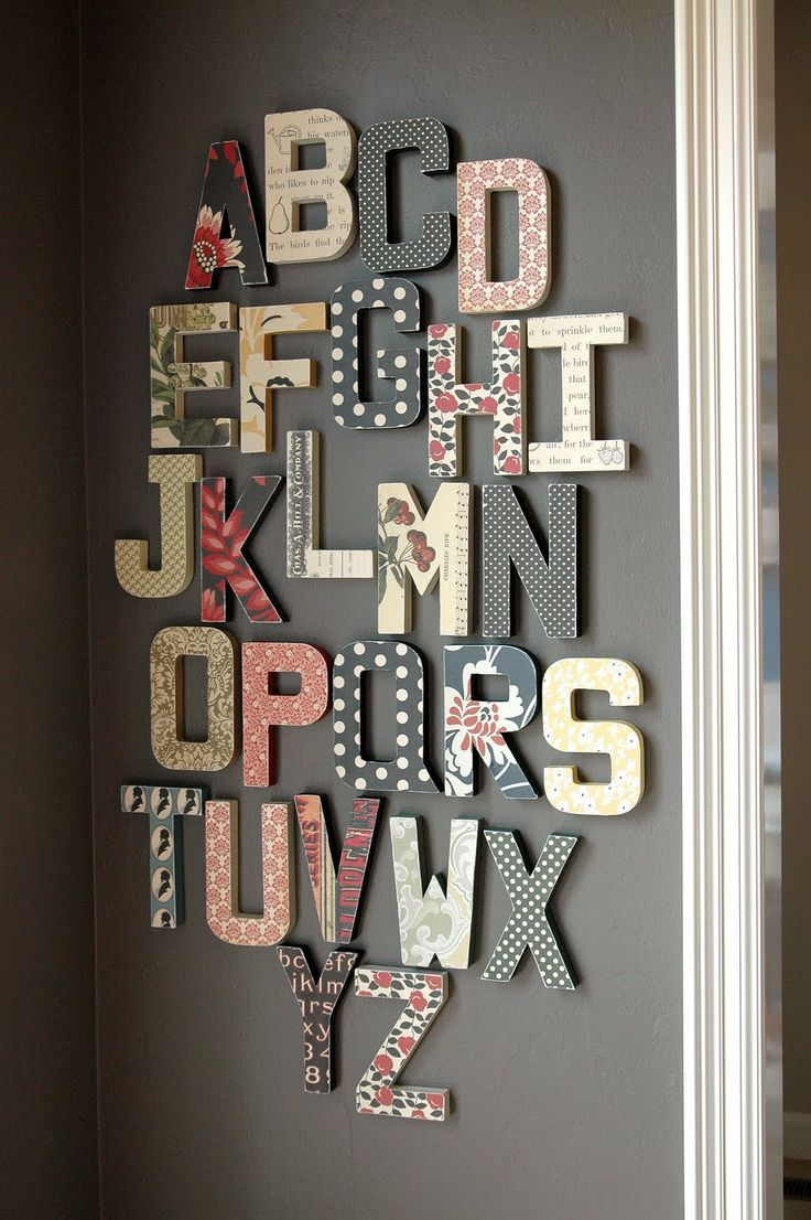 Paper Lust: Jenni Bowlin Studio Wall Alphabet Home Decor.  This would be cute for childs name in their room or for homeschooling