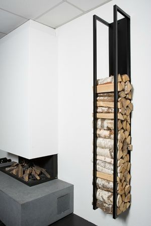 Wood storage like this could be paired with my other fireplace designs – even outdoors.