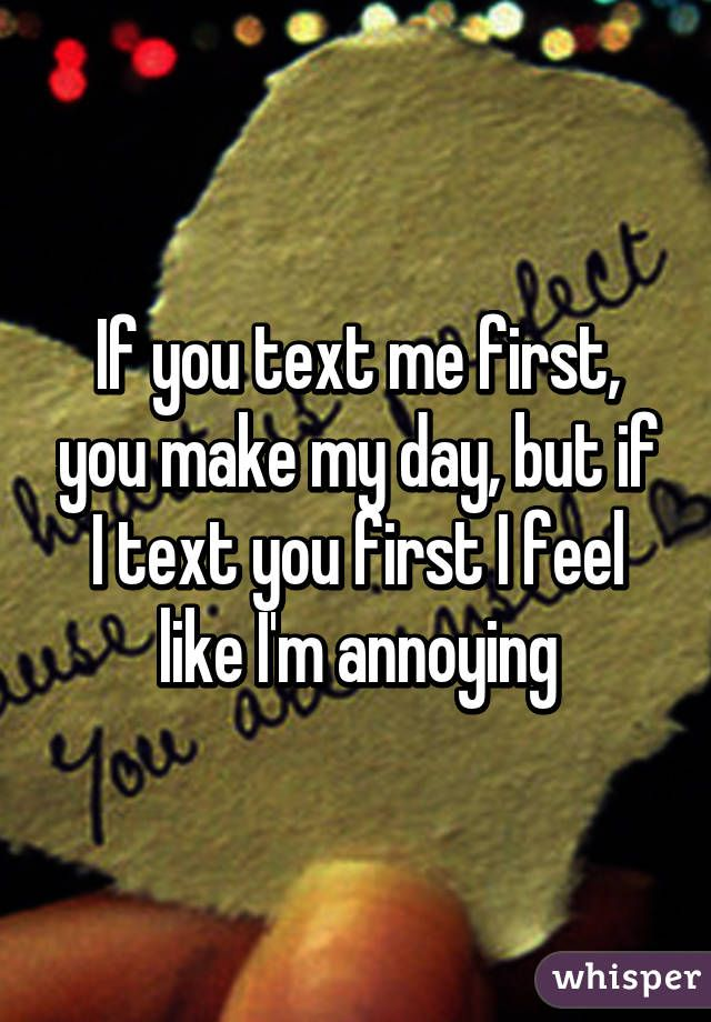 Girl text me first