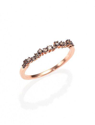 Suzanne Kalan KALAN by Champagne Diamond & 14K Rose Gold Ring on shopstyle.com