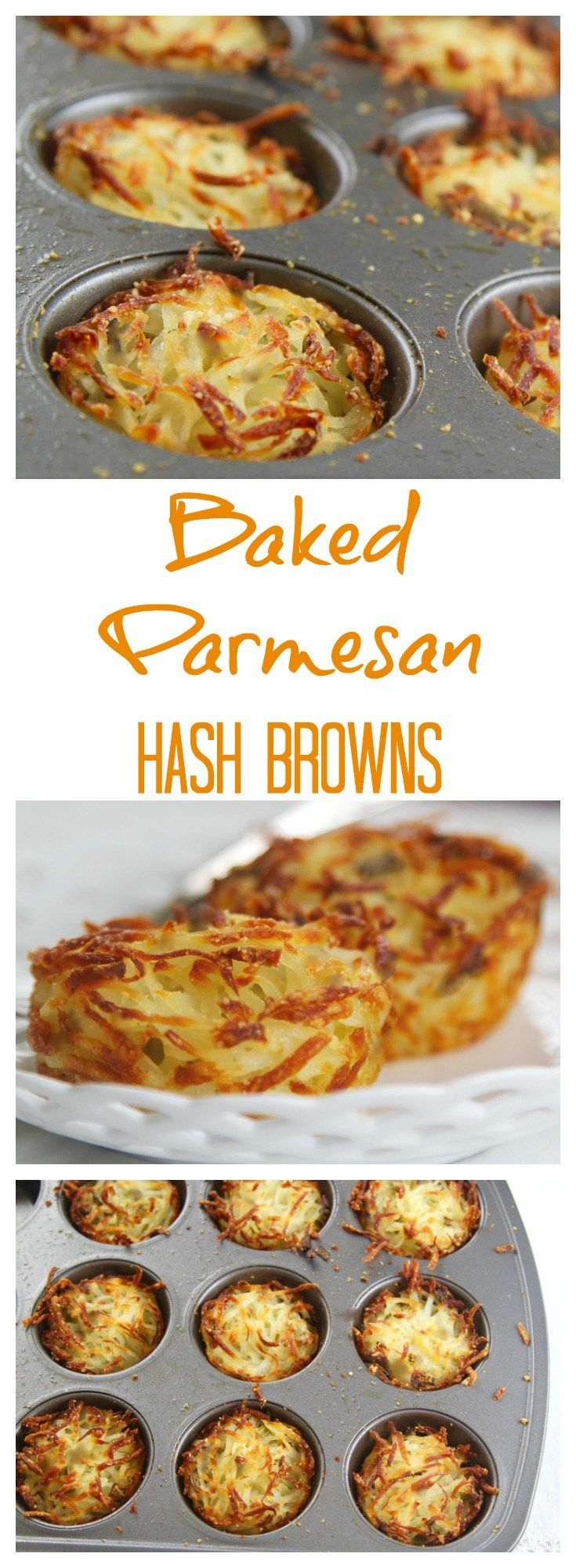 Easy parmesan hash browns baked in muffin cups for crispy edges and soft centers. Prep the night before and bake in the morning