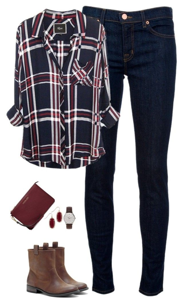 """""""Deep red & navy"""" by steffiestaffie ❤ liked on Polyvore featuring J Brand, Sole Society, J.Crew, Kendra Scott and MICHAEL"""