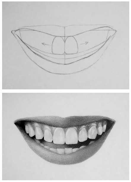 Tutorial: How to draw Teeth (Easy)  Do you avoid drawing toothy smiles? Here's a s