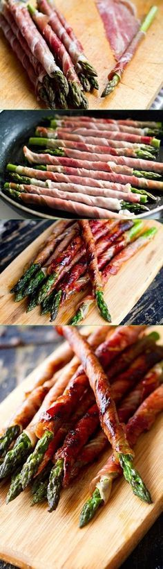 Prosciutto Wrapped Asparagus – The easiest, most tastiest appetizer with just 2 ingredients and 10 min prep!