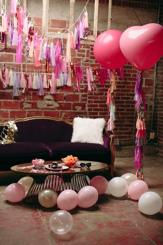 Galentines Day party decor
