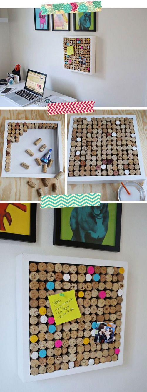 EL MUNDO DEL RECICLAJE: DIY recicla tapones de corcho
