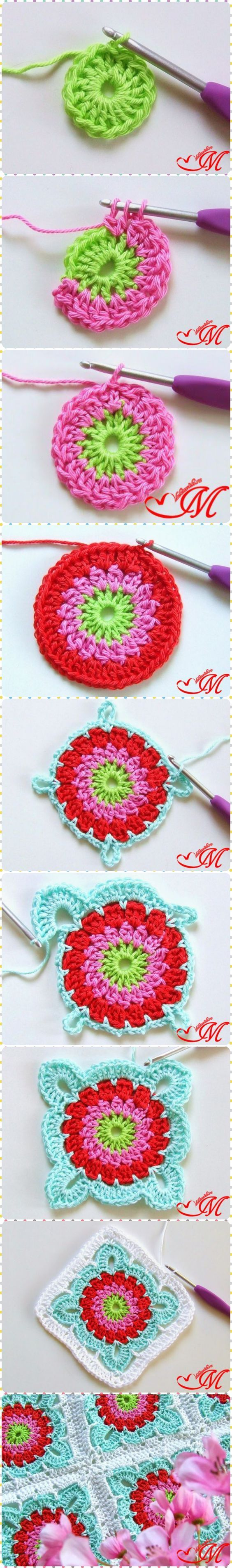 How to Crochet Pretty Granny Square Blanket with Free Pattern: