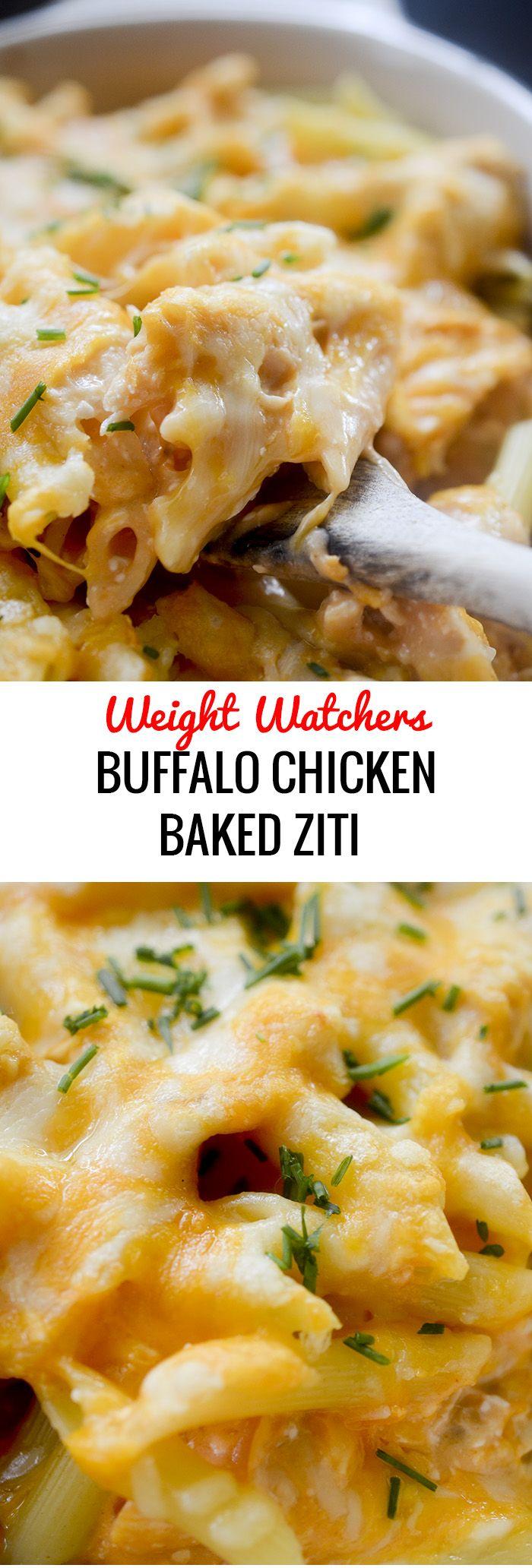 Buffalo Chicken Baked Ziti – Weight Watchers