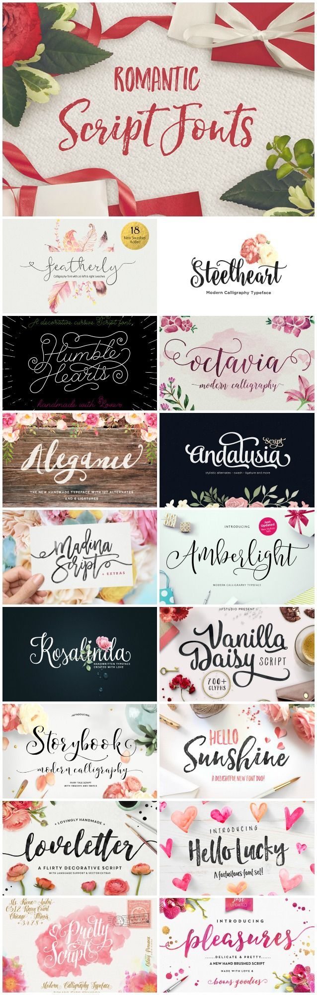 Looking for a delicate, script font for your next print design project? Whether youre working on a set of custom Valentines Day