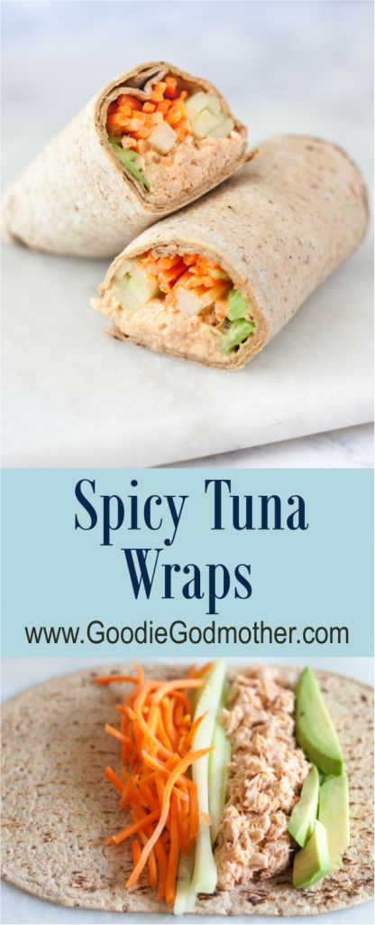 Get your spicy tuna fix in minutes with this easy spicy tuna wraps recipe!