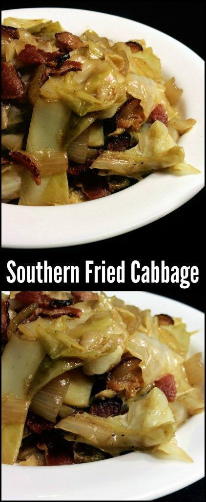 You could make an entire meal out of this Southern Fried Cabbage with bacon and onion!  It is the most popular side dish on the