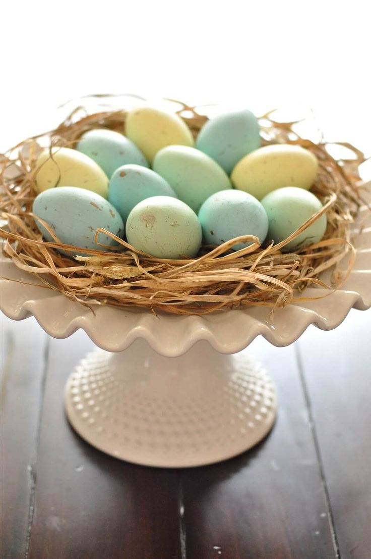 Farmhouse Robins Nest Tabletop Arrangement