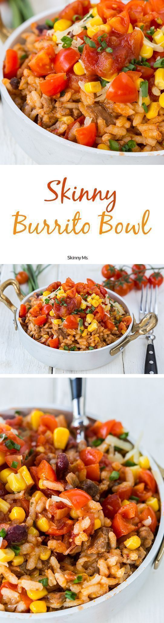 Por favor! These Skinny Ms. Burrito Bowls are so yummy that the tortilla won't be missed. #recipes