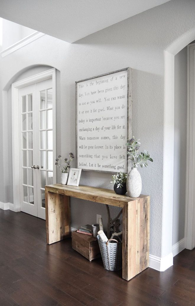 Simple Console Table made from reclaimed barn board