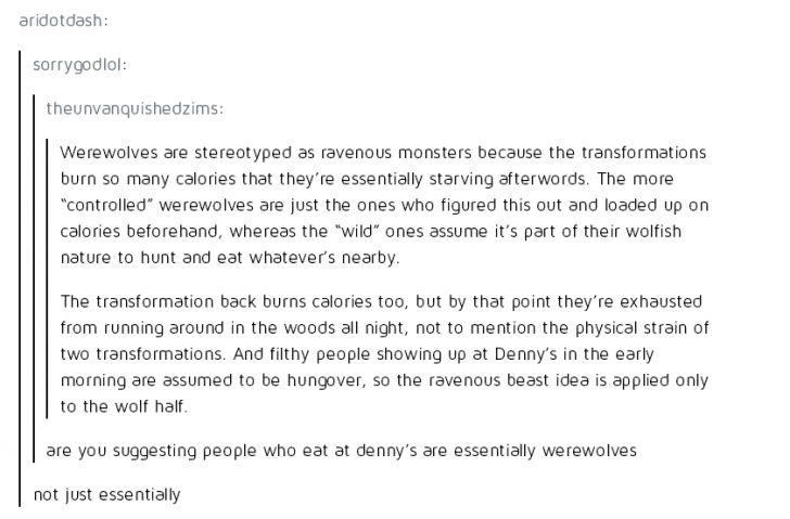 Essentially werewolves