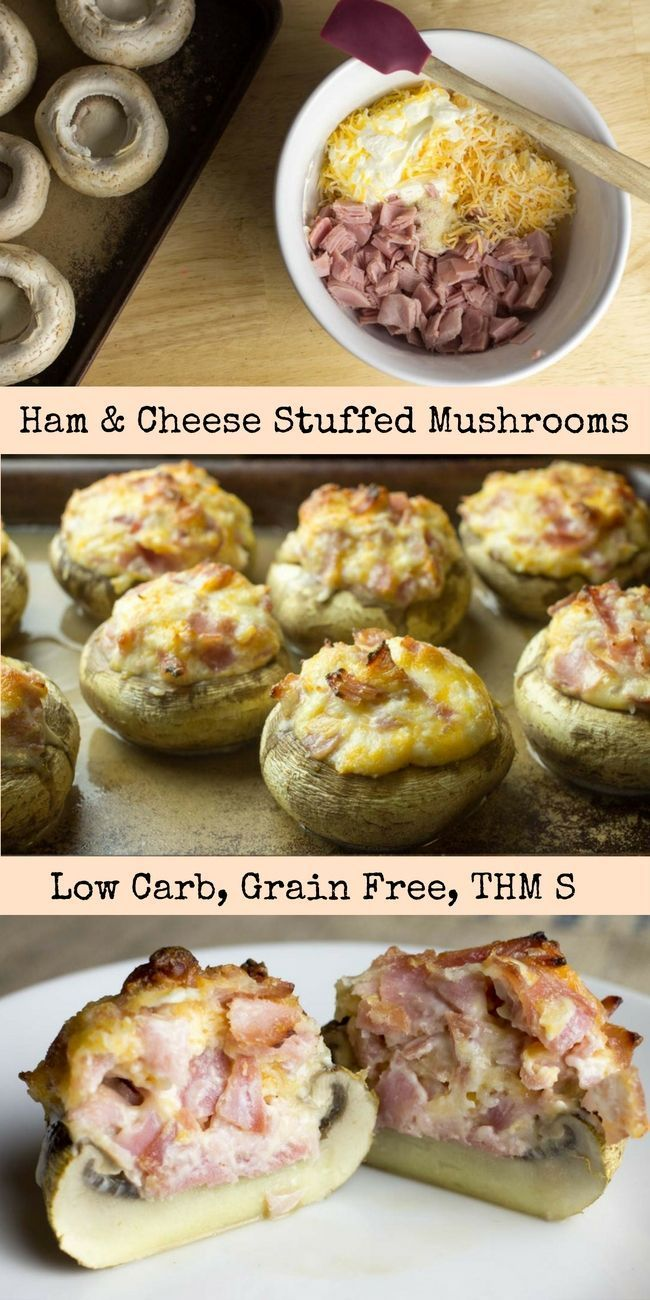 Ham ve come to the right place! These Ham & Cheese Stuffed Mushrooms have about a 5 minute prep time but are better than your