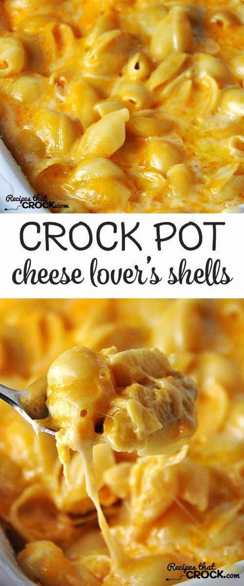 This Cheese Lovers Crock Pot Shells is so simple and has an amazing flavor!