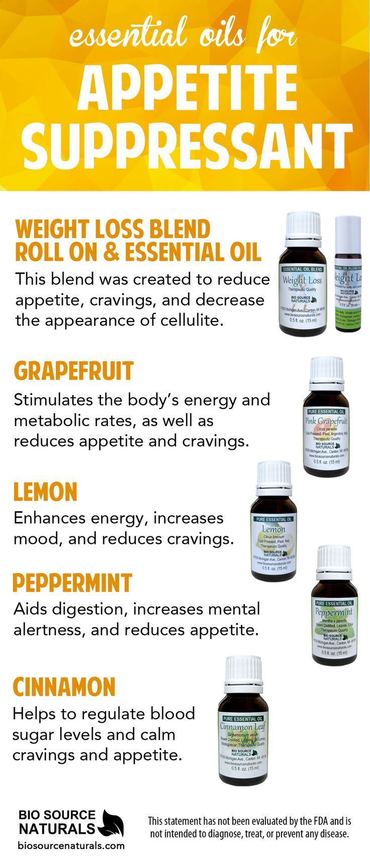 Essential oils to reduce appetite can be used to assist in weight loss naturally. In fact, the Smell & Taste Treatment and