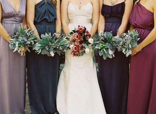 Bridal Style | Jewel Toned Bridesmaid Dresses