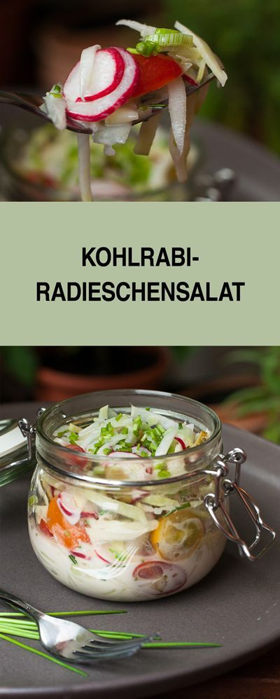 Habt ihr schonmal einen Salat mit Kohlrabi ausprobiert? Nein, dann probiert mein Rezept mal aus. Der Salat schmeckt wunderbar