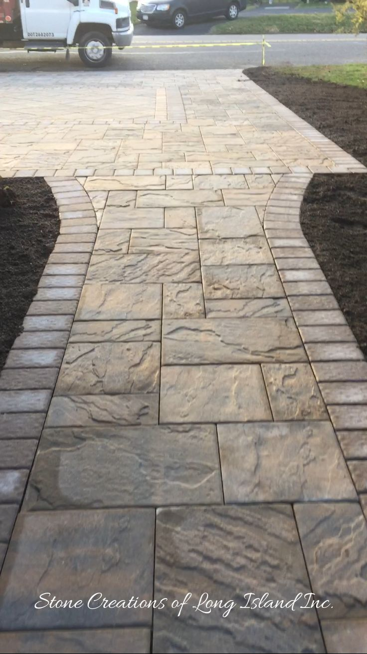 Where will your Cambridge Paver Walkway lead you? www.stonecreation…