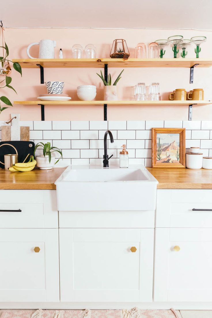 Before s Peachy Kitchen Remodel | Design*Sponge