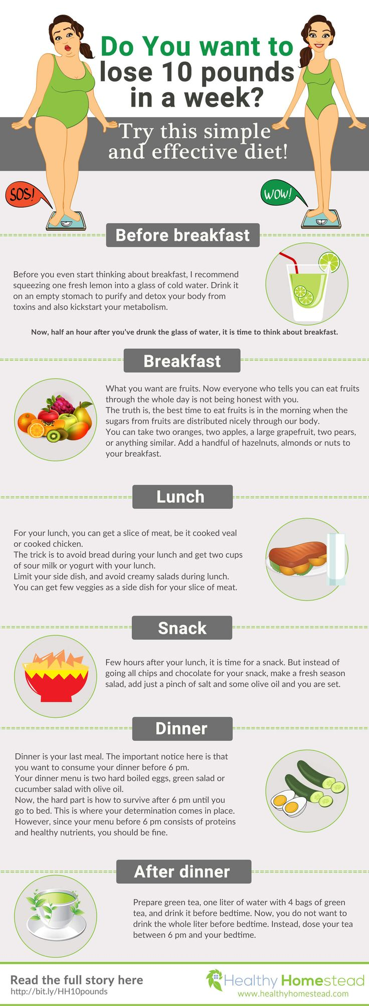 I like this ** Want to lose 10 pounds fast without starving? It is possible. In this infographi…